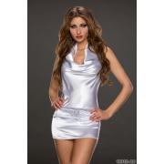 Kratka bela oblekica Skiny