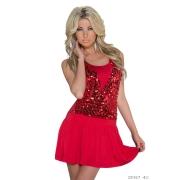 Kratka rdeča oblekica Barby