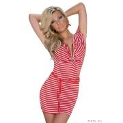Poletna rdeča oblekica Sailor
